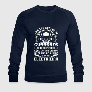 Keeper of Currents Bringer of Power Electrician - Men's Organic Sweatshirt by Stanley & Stella