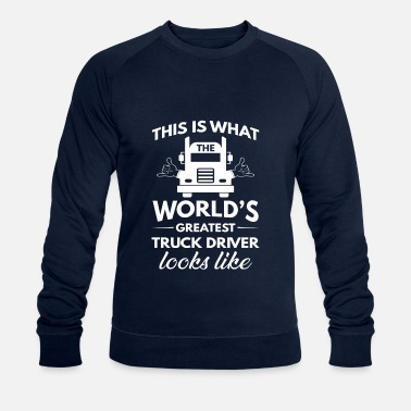 Volvo This is what the greatest truck driver looks like - Økologisk sweatshirt for menn fra Stanley & Stella