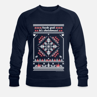 World Of Tanks Tank God It's Christmas - Økologisk Stanley & Stella sweatshirt til herrer