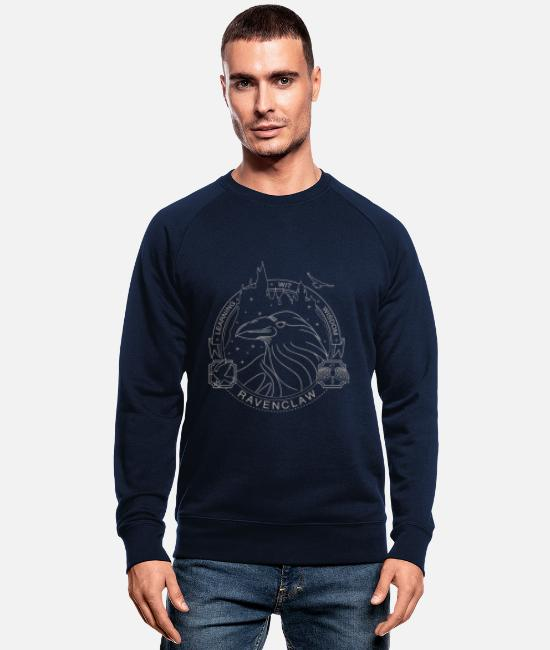 Official License Sweatshirts & hættetrøjer - Harry Potter Ravenclaw Coat of Arms - Økologisk sweatshirt mænd marineblå