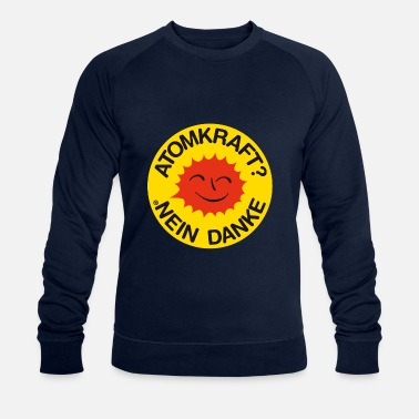 Nuclear Power Nuclear power? No thank you! Logo smiling sun - Men's Organic Sweatshirt