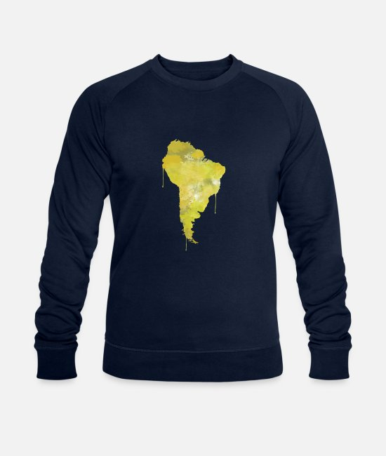 South America Hoodies & Sweatshirts - South America - Men's Organic Sweatshirt navy