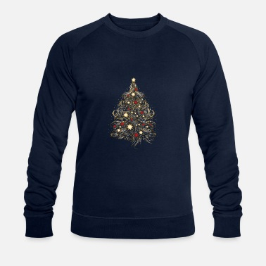 Decoration Christmas tree in gold - Men's Organic Sweatshirt