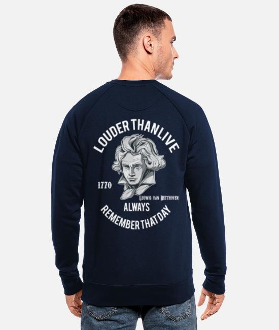 Piano Hoodies & Sweatshirts - Ludwig van Beethoven, classical music gift outfit - Men's Organic Sweatshirt navy