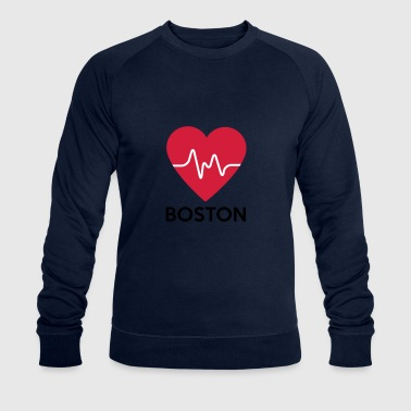 heart Boston - Men's Organic Sweatshirt by Stanley & Stella