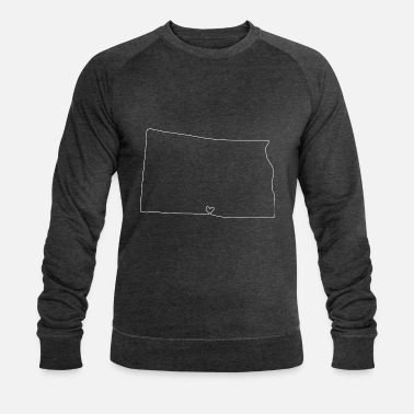 North Dakota NORTH DAKOTA heart - Men's Organic Sweatshirt by Stanley & Stella
