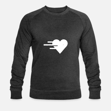 Heart Line Heart with lines - Men's Organic Sweatshirt by Stanley & Stella