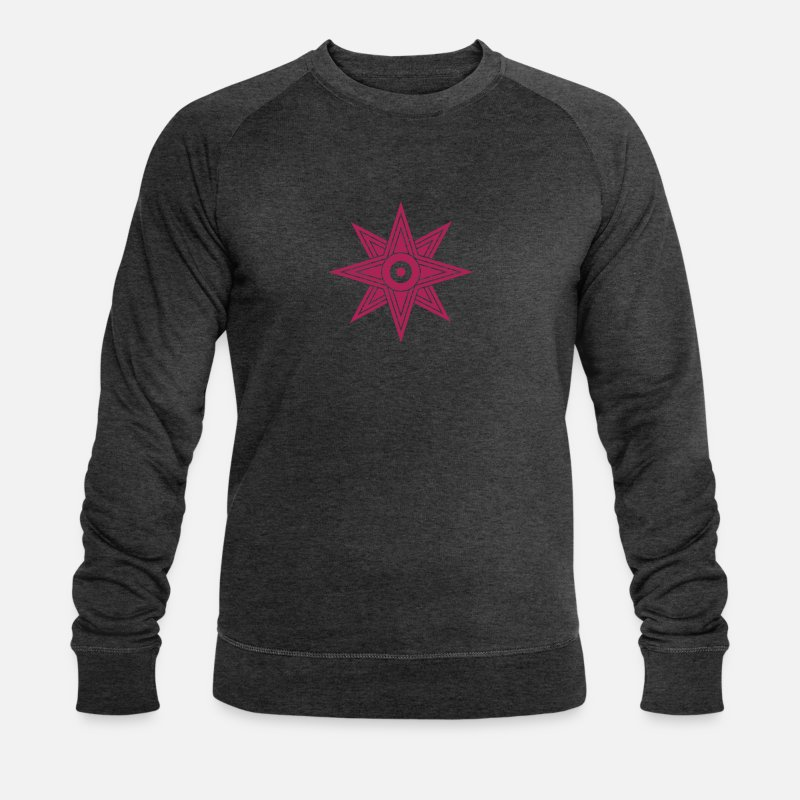 Ishtar Sweat-shirts - Star Of Ishtar - Venus Star, vector 03, Symbol of the great Babylonian Goddess of love Ishtar (Inanna)  - Sweat-shirt bio Homme charbon chiné