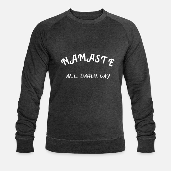 Mantra Sweat-shirts - Namaste Bouddha Yoga Cadeau de méditation zen - Sweat-shirt bio Homme charbon chiné