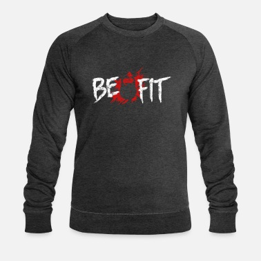 Fitness Fitness fit sport saying - Men's Organic Sweatshirt