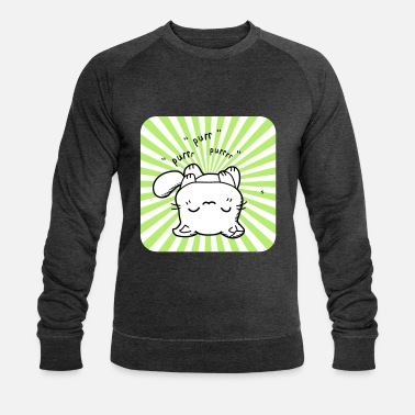 Anime Chaton kawaii ronronne - Sweat-shirt bio Homme