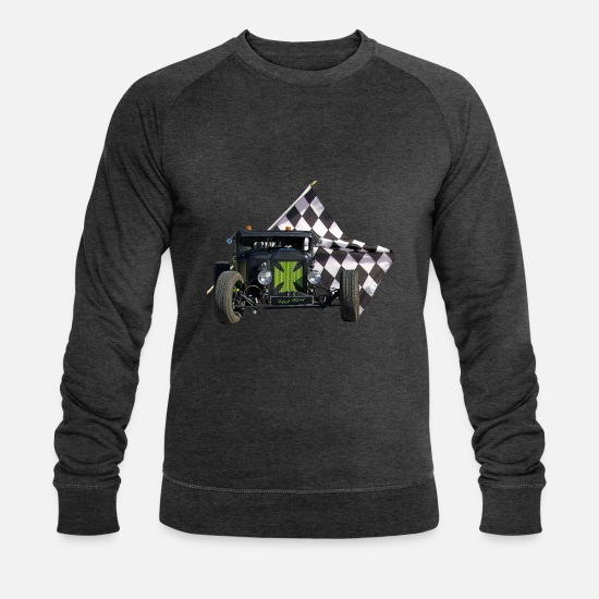 Hot Rod Sweat-shirts - Hot Rod Pick-Up - Sweat-shirt bio Homme charbon chiné