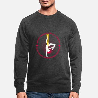 Hoop Never Underestimate A Women Who Hang Upside Down - Men's Organic Sweatshirt