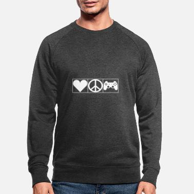 Leible Love, Peace and Gaming - Leibl Designs - Men's Organic Sweatshirt