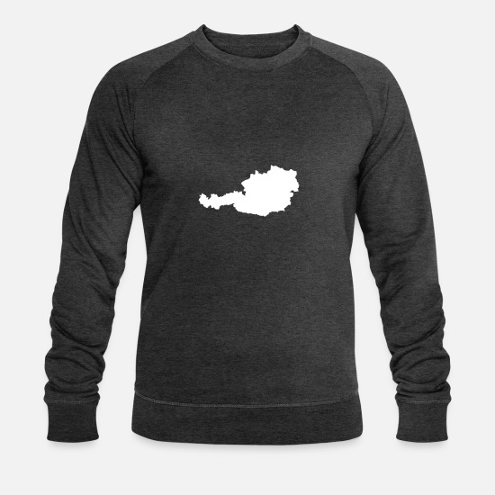 Bozen Hoodies & Sweatshirts - Austria Alps Winter Mountains Nature Austria - Men's Organic Sweatshirt dark grey heather