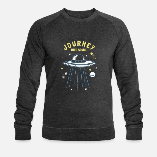 Space Pullover & Hoodies - Journey into Space - Männer Bio Pullover Dunkelgrau meliert