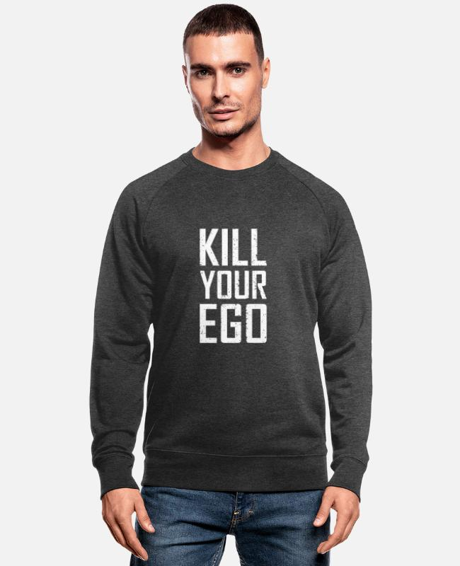 Money Pullover & Hoodies - Kill Your Ego - Männer Bio Pullover Dunkelgrau meliert