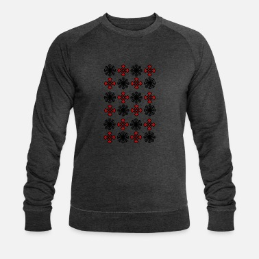Luxury design crosses and floral pattern - Men's Organic Sweatshirt