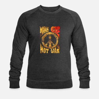 Make Love Not War - Männer Bio Pullover