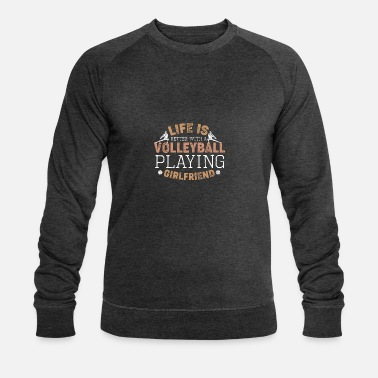 Relationship gift volleyball beach girlfriend - Men's Organic Sweatshirt