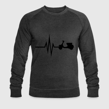 My heart beats for scooter moped moped Italy - Men's Organic Sweatshirt by Stanley & Stella