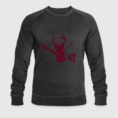 deer hunting fishing - Men's Organic Sweatshirt by Stanley & Stella