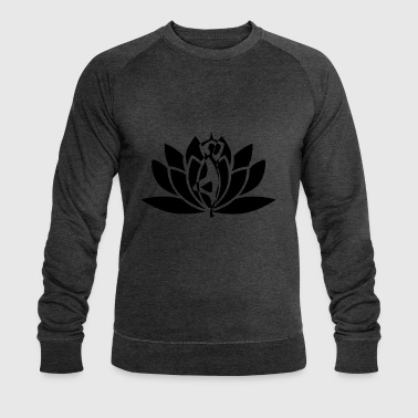 yoga flower - Men's Organic Sweatshirt by Stanley & Stella