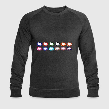 Poker chip - Men's Organic Sweatshirt by Stanley & Stella