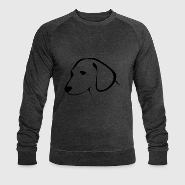 dog head - Men's Organic Sweatshirt by Stanley & Stella