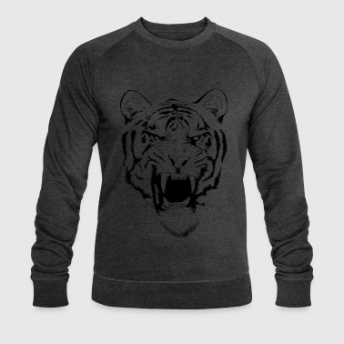 tiger design - Men's Organic Sweatshirt by Stanley & Stella