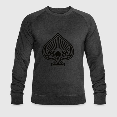 As Piques Poker Cards - Men's Organic Sweatshirt by Stanley & Stella