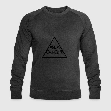FUCK CANCER TRIANGLE RIBBON KAMP AGAINST CANCER - Men's Organic Sweatshirt by Stanley & Stella