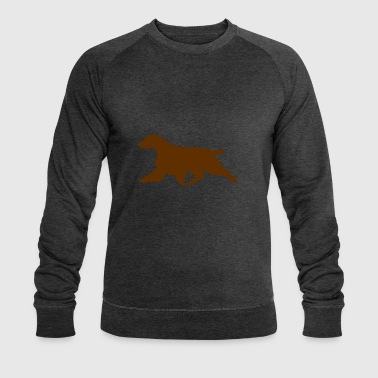 Field Spaniel (Liver Docked) Trotting - Men's Organic Sweatshirt by Stanley & Stella