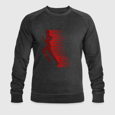 red runner - Men's Organic Sweatshirt by Stanley & Stella