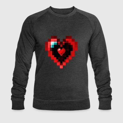 Graphic Pixel Heart - Sweat-shirt bio Stanley & Stella Homme