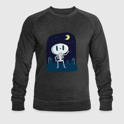 Skeleton with tombstone and moon - Men's Organic Sweatshirt by Stanley & Stella