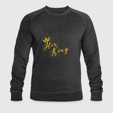 King chess gift idea player playing crown - Men's Organic Sweatshirt by Stanley & Stella