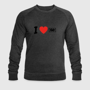 I love TECHNO DJ ELECTRO png - Men's Organic Sweatshirt by Stanley & Stella