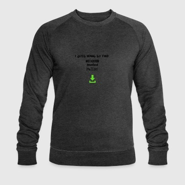 Motivation download button - Men's Organic Sweatshirt by Stanley & Stella