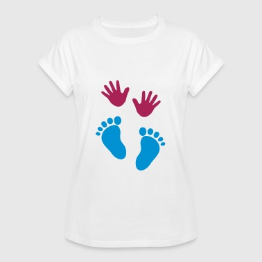 Baby hands and feet - Dame oversize T-shirt