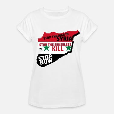 Syria War Stop the war in Syria - Women's Oversize T-Shirt