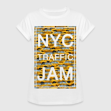 Yellow Cab NYC traffic jam taxi new york yellow cab big apple - Women's Oversize T-Shirt