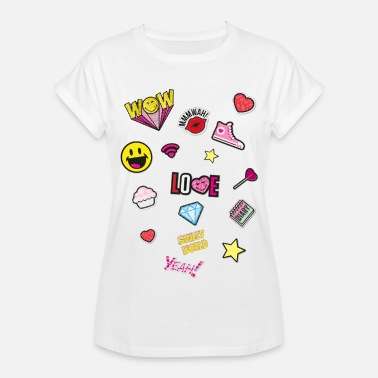 Officialbrands Smiley World Émoticônes Drôles Symboles - T-shirt oversize Femme