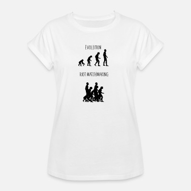 Evolution Of Man Geek Evolution of Man by Riot - Women's Oversize T-Shirt