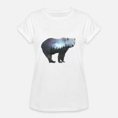 Nature Lover Bear bear gift nature nature lover mountains forest - Women's Oversize T-Shirt