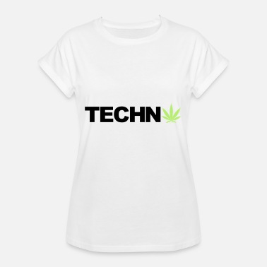 Weed Cannabis Techno Cannabis Cannabis Weed Gift - Vrouwen oversize T-shirt