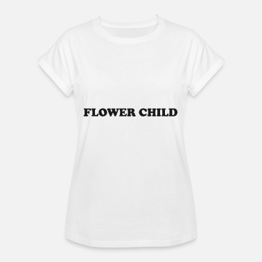 Blomsterbarn Flower Child citat - Dame oversize T-shirt