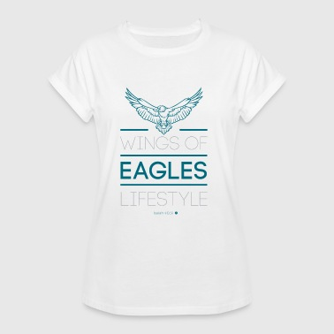 Isaiah Wings Eagles Lifestyle Jt4Christ Christian T-shirt - Camiseta holgada de mujer