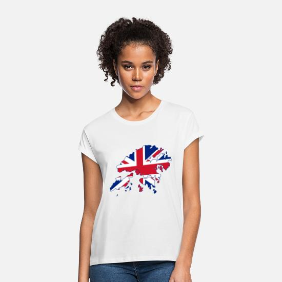 British T-Shirts - British Flag - Women's Loose Fit T-Shirt white