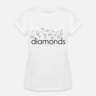 Diamanter diamanter diamanter - Oversize T-shirt dame